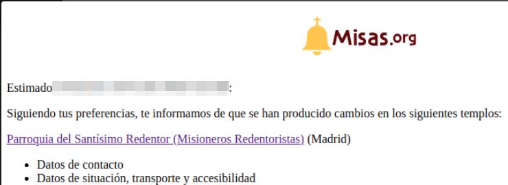 Ejemplo del mail que se envía