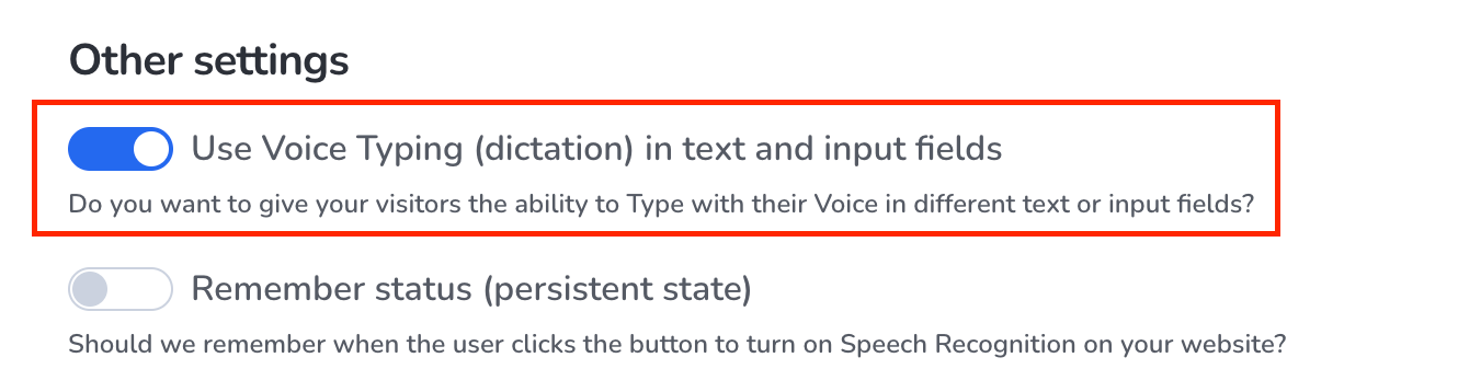 Activate Voice Typing