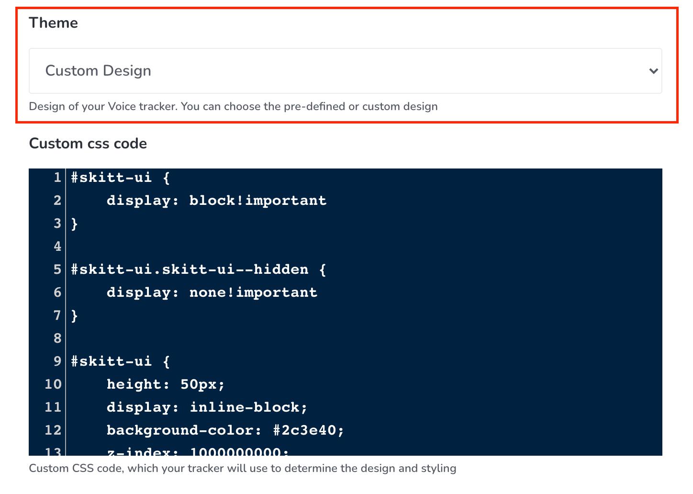 Implement Custom Design