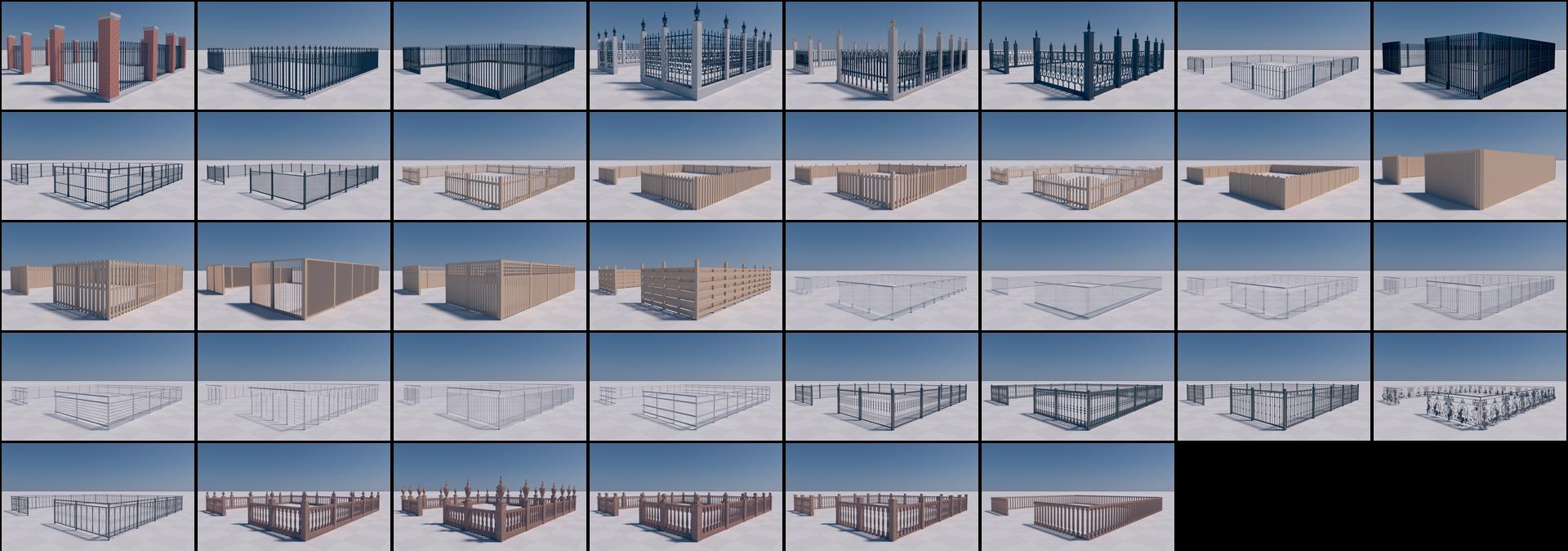 SiClone fence sample models.