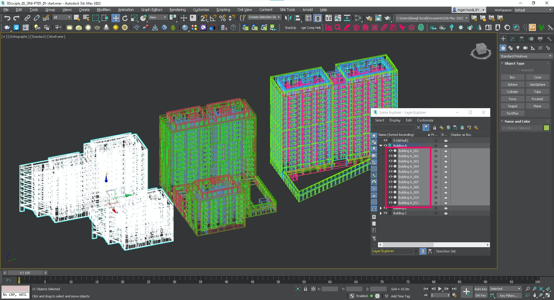 Screenshot showing Sculpt - Explode by Material.