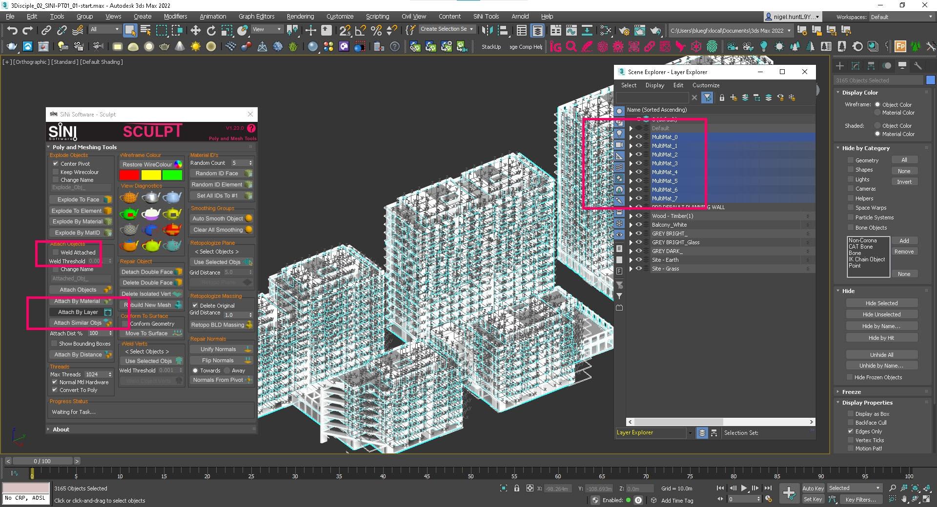 Screenshot of Sculpt - Attach by Layers.