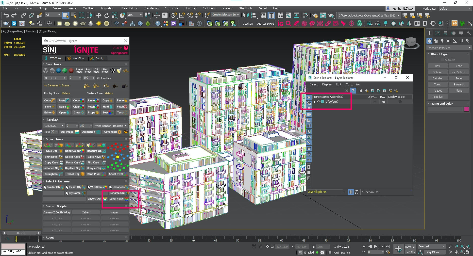Screenshot of IgNite - Layers by Material.