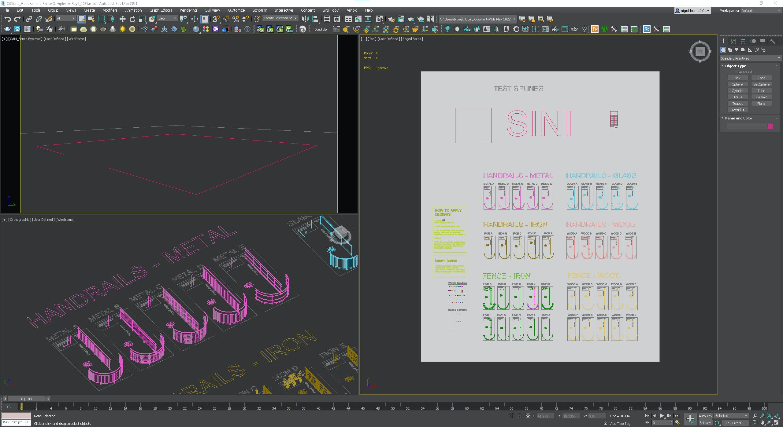 3ds Max 2021 - System/Scene units = Meters.