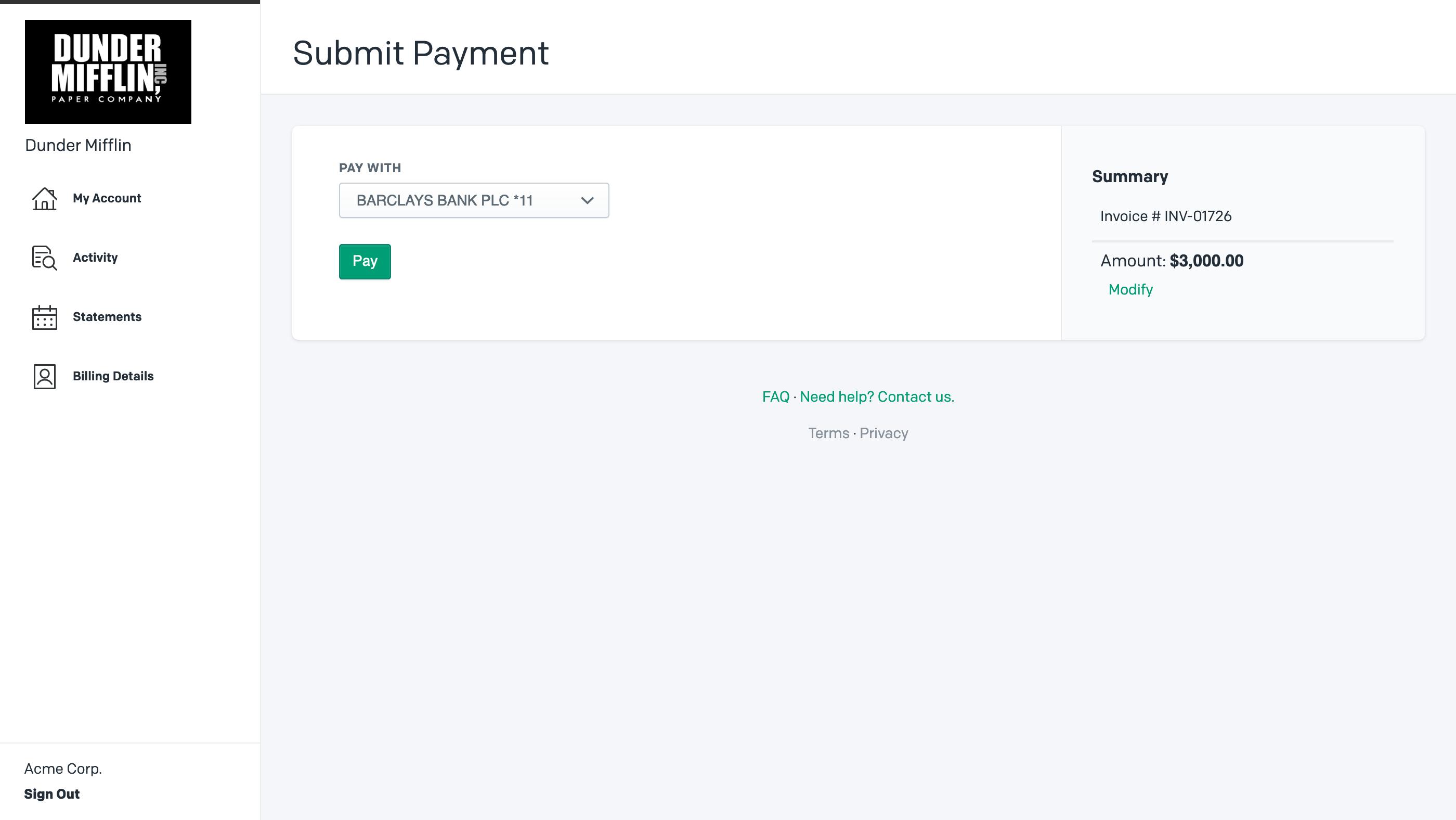GoCardless Direct Debit Payment
