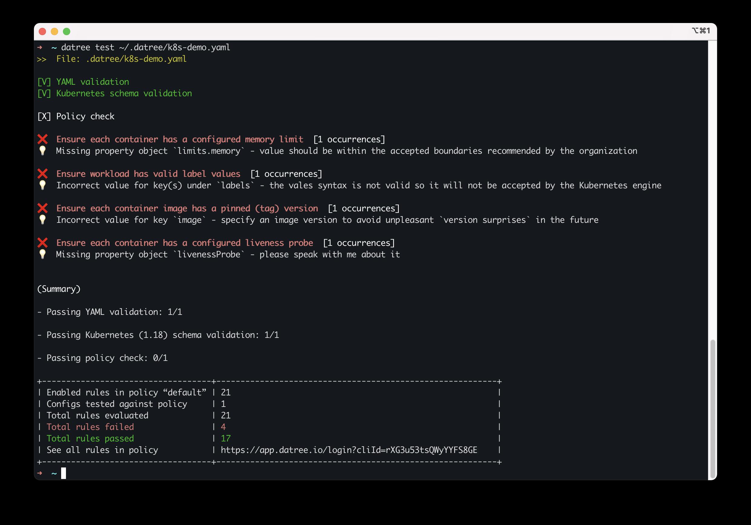 demo file output
